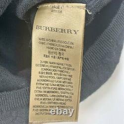 Burberry Sweater Metallic Gold Heart Black Long Sleeve Top Women's Size Medium