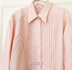 CANDY CRUSH CELINE PINK PLEATED DETAILS BLOUSE TOP (42), Phoebe Philo 2017