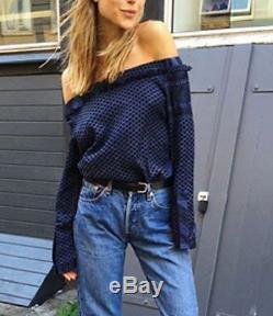 CECILIE COPENHAGEN Long Sleeve Off Shoulder Top Blouse Shirt
