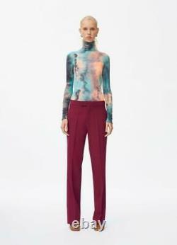 CELINE Tie Dye Turtleneck Sweater Stretch Tie-Dye Phoebe Philo Spring 2018 XS