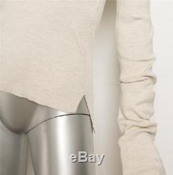 CELINE Womens Beige Heather Turtleneck Long Sleeve Silk Sweater Top S NEW