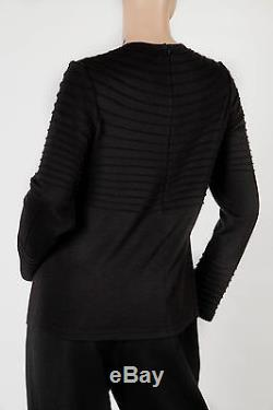 CHADO RALPH RUCCI Black CASHMERE Long Sleeve Knit Sweater Top Size 10