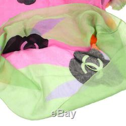 CHANEL 00T #42 CC With Scarf Long Sleeve Tops Blouse Shirt Pink Silk NR15112