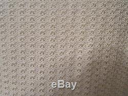 CHANEL 02P white crochet long sleeve rhinestone buttons knit top sweater sz 40