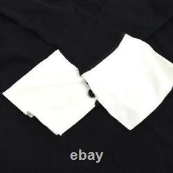 CHANEL 07P #42 CC Logos Bow Charm Long Sleeve Knit Tops Black Authentic AK40133