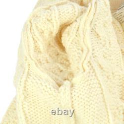 CHANEL 30794 #40 Imitation Pearl Long Sleeves Knit Tops Cardigan Ivory AK38023c