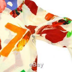 CHANEL #34 CC Logos Long Sleeve Tops Blouse Shirt White Authentic AK41169