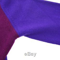 CHANEL CC Logos Long Sleeve Cardigan Tops Purple Vintage #42 AK31855d