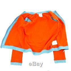 CHANEL Sports Line CC Long Sleeve Tops Zip Up Jacket Orange Authentic AK41329
