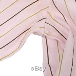 CHANEL Vintage CC Logos Long Sleeve Tops Shirt Pink #38 Authentic AK36825d