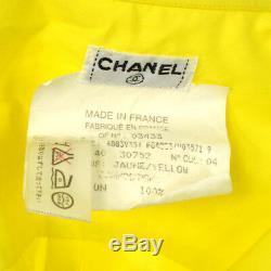 CHANEL Vintage CC Logos Long Sleeve Tops Shirt Yellow #40 Authentic AK36827d