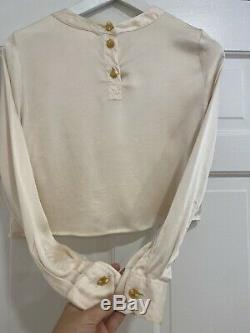 CHANEL Womens Long Sleeve Crop Top Size 36 100% Authentic France