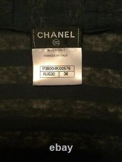 CHANEL hoodie TOP huge CC logo stitched on front kangaroo pouch Fr 36 oversized