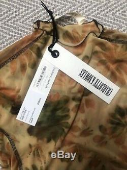 CHARLOTTE KNOWLES yellow floral bleach halcyon long sleeve top NWT