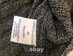 CHRISTOPHER ESBER 100% Lurex Metallic Knit Top Sz XS / 6