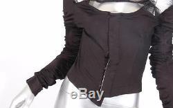 COMME DES GARCONS Womens 2004 RUNWAY Long Sleeve Mesh Corset Blouse Top M