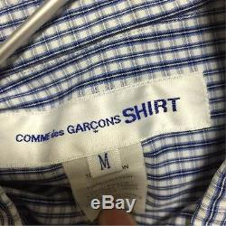 COMME des GARCONS SHIRT Switching Plaid Long-Sleeved Shirt Men's Tops Size M