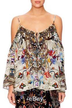 Camilla Raise Your Glass Long Sleeve Drop Shoulder Top sz XL (AU 16-20)