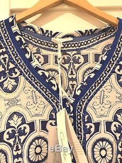 Camilla Royal Alcazar Long Sleeve Silk Button-Up Top/Blouse BNWT Size 1