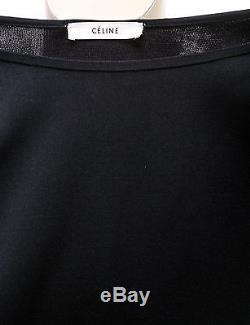 Celine Black Cut Out Long Sleeve Knit Top (Size S)