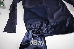 Celine Blouse Cady Long Sleeve Asymmetrical Tie Top Jacket $2250 FR40 L 90% OFF