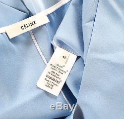 Celine Fall 2015 Long Sleeve Silk Blouse Top (fr40) Nwt