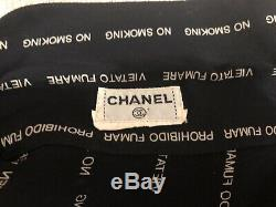 Chanel Long Sleeve Blouse Tops No Smoking Ladies 38 40 42 44 M