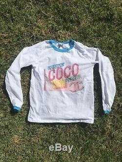 Chanel Viva Coco Cuba Libre White Cotton Long Sleeve Tee Shirt Top Size S