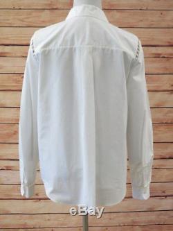 Chloe White Wardrobe Shirt Top Milk Cotton Size 40 Long Sleeve Blouse NEW