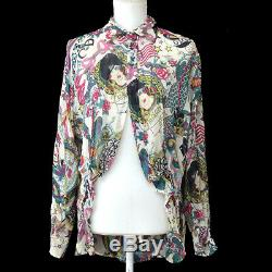 Christian Dior 4F12055021 Long Sleeve Shirt Tops Multi-color Authentic GS02556