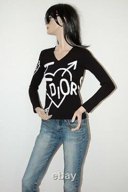 Christian Dior I heart Dior Black Longsleeve Top Shirt