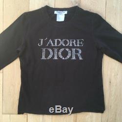 Christian Dior J'adore Dior Black Long Sleeve Top UK10