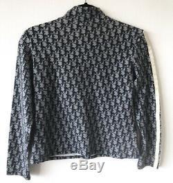 Christian Dior Monogram Trotter Logo Long Sleeve Turtleneck Jadore Top Sweater