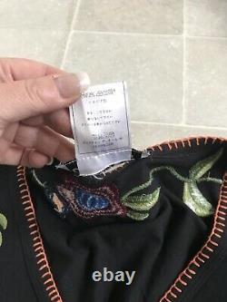 Christian Dior Vintage 2003 Gypsy Folk Embroidered Sleeved Top UK12 Insta Rare