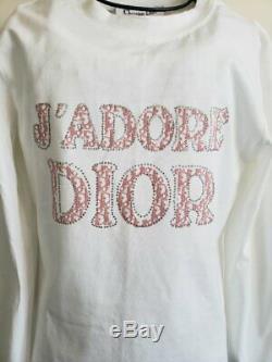 Christian Dior Vintage Boutique Paris T Shirt Top Size 44 Long Sleeve D'Adore