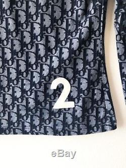 Christian Dior Vintage Monogram Logo Trotter Print Long Sleeve Top SZ FR 42