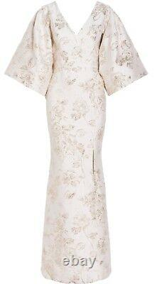 Christian Siriano Rose Brocade Wing Sleeve Gown-Stuning-Top $$$ BNWT $4,100