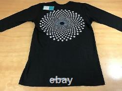 Chrome Hearts Illusion Classic Logo Ls Thermal Top Black White Mens Medium New