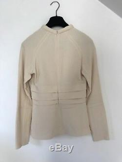 Cream Long Sleeved Top By Proenza Schouler, Size 4 US