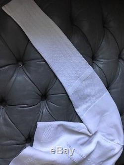 Cushinie Et Ochs Top White Long Sleeve Crop Sweater textured embossed M Medium