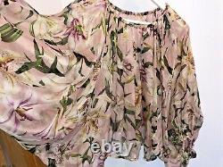 DOLCE&GABBANA Lilly Print Signature Silk Blouse Shirt Top IT 42 UK 8 10