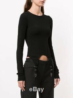 Dion Lee Garter Long Sleeve Top Black Size M