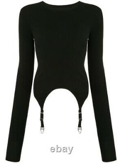 Dion Lee Garter Long Sleeve Top Black Size XS