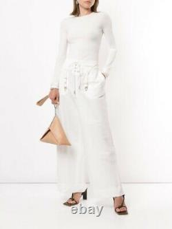 Dion Lee Garter Long Sleeve Top Ivory Size M