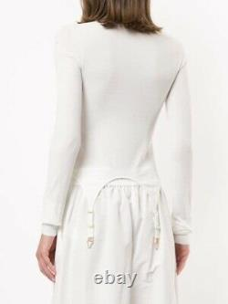 Dion Lee Garter Long Sleeve Top Ivory Size S
