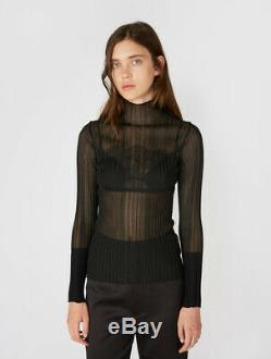 Dion Lee Opacity Pleat Long Sleeve Top Black Size M