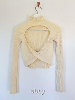 Dion Lee Twist Back Knit Top Size S