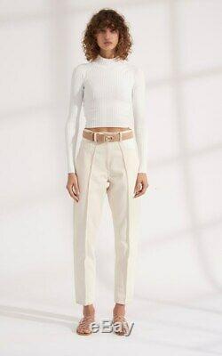 Dion Lee Twist Back Long Sleeve White Knit Women's Top SZ XS