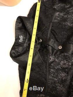 Dolce & Gabbana Black Mesh Lace Longsleeve Blouse Shirt Top Xs S