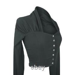 Dolce&Gabbana Vintage Top Black Extra Long Sleeve fits 6